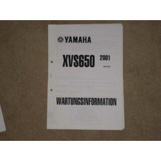 yamaha xvs 650 wartungsanleitung service information. Black Bedroom Furniture Sets. Home Design Ideas